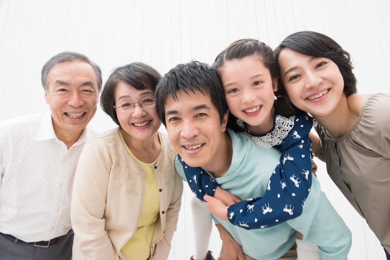 三世代の仲良し家族